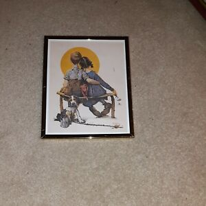 Norman rockwell prints,Little Spooners.