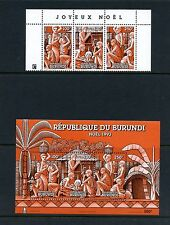 Burundi 1993  #714, 714D  art Christmas  strip & sheet    MNH  J447