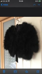 Real Ostrich Feather Bolero Size Large 12-14