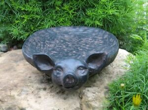 PIG BOWL/Tray~Primitive Home/French Country Kitchen Farmhouse Centerpiece Decor