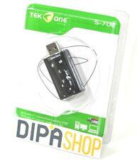 Scheda Audio Usb TeKone S-702 Virtuale 7.1 Canali Adattatore Notebook Pc hsb