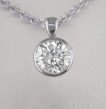 0.40ct Diamond Solitaire Platinum Pendant Certified D IF Exc Brilliant & Chain