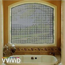 """Frosted Gray Block Window Glass Decorative Privacy Home DIY Vinyl Film 36"""" x 24"""""""