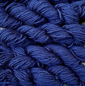 Pure wool yarn, extra bulky, navy blue, 260 yards, 4 skeins
