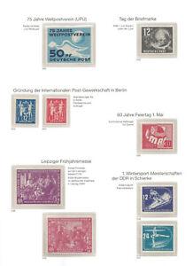DDR Sammlung lückenlos postfr. komplett in 5 Bd., beste Erhaltung, Luxus  -1598-