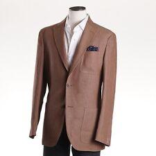NWT $1795 LUCIANO BARBERA Light Brown Unstructured Linen Sport Coat 38 R (Eu 48)