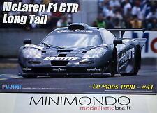 KIT MCLAREN F1 GTR LONG TAIL LE MANS 1998 CON FOTOINCISIONI 1/24 FUJIMI 12580