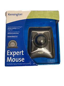 Kensington Expert Trackball Mouse (K64325), Black Silver Brand New Sealed