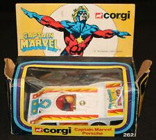 Captain Marvel Porsche by Corgi Toys #262 (Box: VG / Bike: MINT) 1979