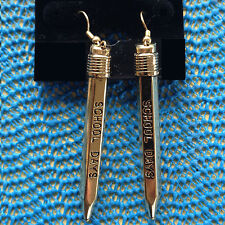 Pencil Earrings for Teacher or School Bus Driver
