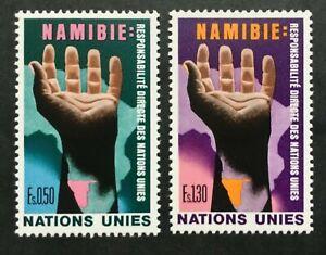 Timbre UNITE DES NATIONS GENEVE Yvert & Tellier n°52 à 53 n** Mnh (Cyn38)