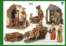 Presepe Natività set 5 personaggi assortiti in resina 17 cm by Paben
