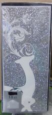 18 ct Silver Glitter Deer Christmas Card w/matching envelopes 9x4 NIB
