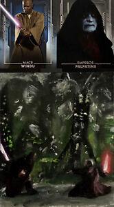 2020 Star Wars Masterwork 1/1 Sketch Mace Windu/Emperor Palpatine/Ward Silverman