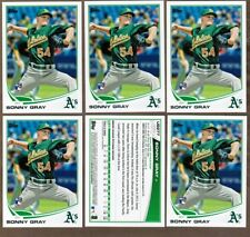 (6) ct  2013 Topps Update #US277 Sonny Gray Rookie Lot (ref 30536)