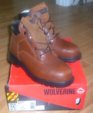 """Wolverine W08165 Size 9.5 EW 6"""" Steel Toe Mens Work Construction Leather Boot"""