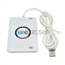 2PCS NFC Reader Writer 13.56Mhz USB ACR122U RFID Copier Duplicator Contactless