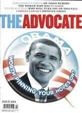 The Advocate Gay Magazine Barack Obama Jada Pinkett Smith JT Leroy Lindsay Lohan