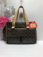 Louis Vuitton LV Brown Monogram Multipli Cite GM Shoulder Handbag Tote Bag Purse