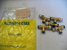 NEW MCMASTER-CARR LOT OF 5 BRASS PUSH TO CONNECT TEE T TUBE FITTING 51025K155