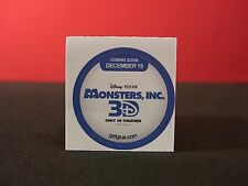 """Monsters Inc. 3D """"Coming Soon"""" Collectible New Get Glue Stickers NLA"""