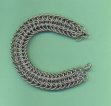 Stainless Steel Persian Dragonscale Chain Mail Bracelet  Made in USA Chainmaille
