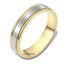 TWO TONE GOLD WEDDING RINGS,10K WHITE & YELLOW GOLD MENS WOMENS WEDDING RINGS