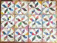 12  Color Collection Pinwheels Stars  Quilt Blocks 100% Cotton made in USA