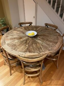 Dining table and 6chairs, bay leather republic