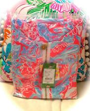 NEW LILLY PULITZER *SUMMER SIREN* SKIPPER POPOVER ~Pink Sun Ray~ UPF 50+ LARGE!