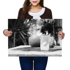 A2-Natural De Agua Jugo de Coco joven cartel 59.4X42cm280gsm (BW) #42706