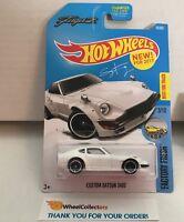 Custom Datsun 240Z #76 * WHITE * 2017 Hot Wheels * b10