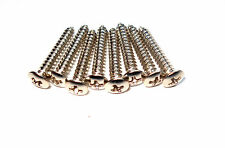 8 Tornillos cromados marcos pastillas guitarra - 8 Chrome mounting rings screws