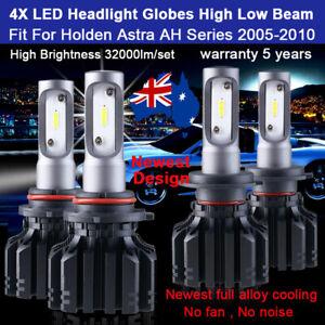 For Holden Astra AH 2005-2009 4x Headlight Globes Hi Low beam bulbs 32000LM Set