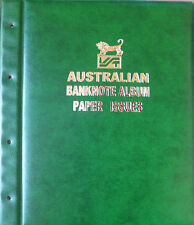 AUSTRALIAN DECIMAL PAPER BANKNOTE ALBUM Illustrated GREEN Colour - 1966-Present