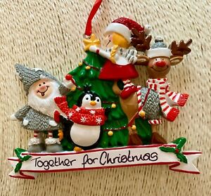 Personalised Family of 4 Christmas Characters Tree Decoration Bauble Friends