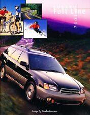 2001 Subaru 16-page Sales Brochure Catalog - Forester Outback Impreza Legacy