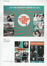 "2002 Vintage JAMES BOND ""THE SPY WHO LOVED ME"" BRITISH MINI POSTERS Art Litho"