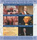 Chad 2021 MNH Military Stamps Jay Treaty George Washington US Presidents 6v M/S
