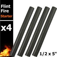 "4x 1/2x 5"" Ferro Rod Striker Flint Fire Starter Survival Bushcraft Camping Tool"
