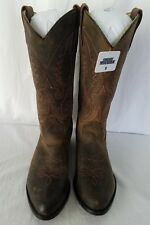 Smoky Mountain Womens Dark Crazy Horse Leather Distressed Cowboy Boots Size 8