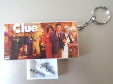Hasbro Clue Mini Board Game Key Chain Gun Dagger & Dice 1998