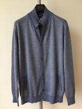 Cesare attolini cashmere silk cardigan sweater jacket 54