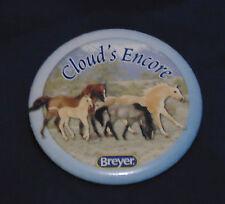 BREYER HORSE BUTTON PIN - CLOUD'S ENCORE, PRYOR MOUNTAIN MUSTANGS