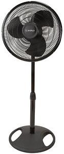 "Lasko S16500 16"" Oscillating Pedestal Stand 3-Speed Fan - Black"