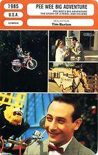 Fiche Cinéma. Movie Card. Pee Wee big adventure (USA) 1985 Tim Burton