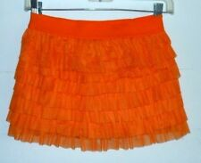 Circo,NWOT girl 10-12 skirt,Pumpkin orange tulle ruffle layers,elastic waist