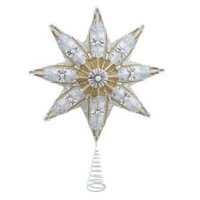 More details for kurt adler gold and silver star tree topper