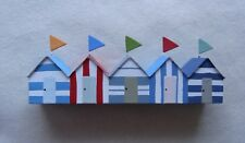 Row Of  Beach Huts Beach Huts  Home Decor  NEW nautical  FREE POST