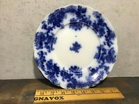 Antique Flow Blue Porcelain 9 inch plate New Wharf Pottery Lancaster England